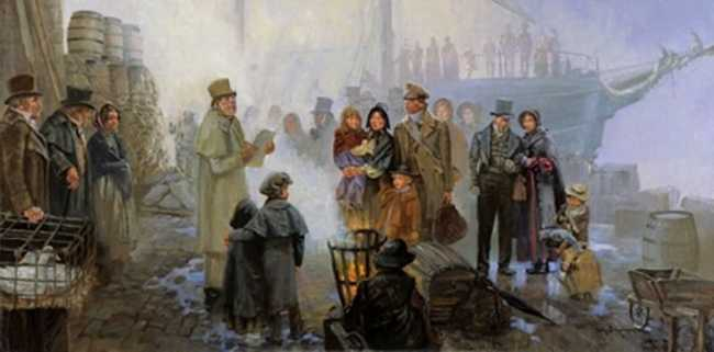 Emigrants at the wharf